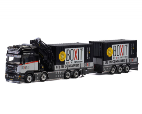 "WSI ""Boxit"" ScaniaR6 Streamline with Palfinger7800.2 + 2x 20 FT Container"